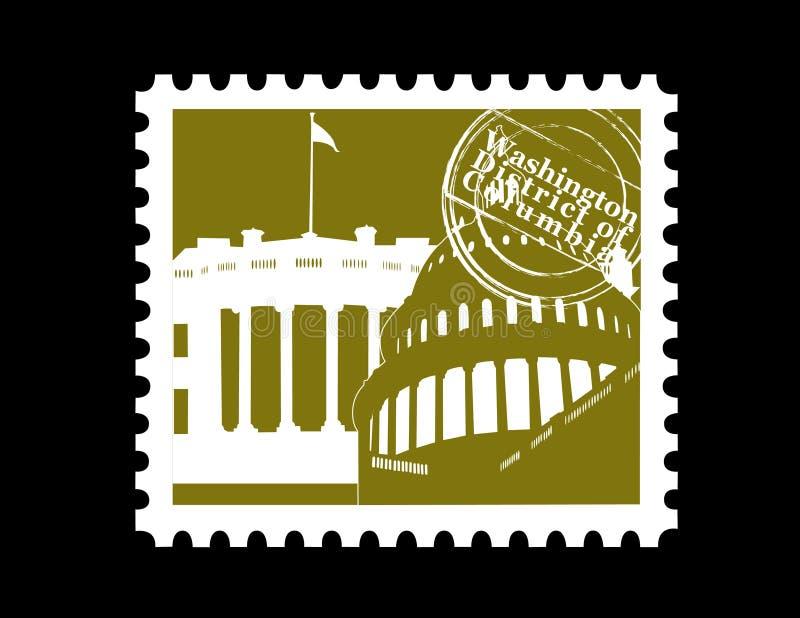 Stempel, Washington DC stock abbildung