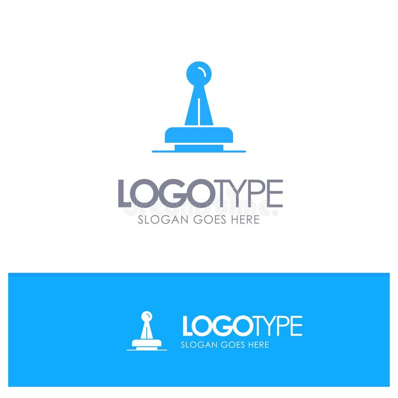 Stempel, Zustimmung, Berechtigung, legal, Kennzeichen, Gummi, Dichtungs-blaues festes Logo mit Platz für Tagline lizenzfreie abbildung