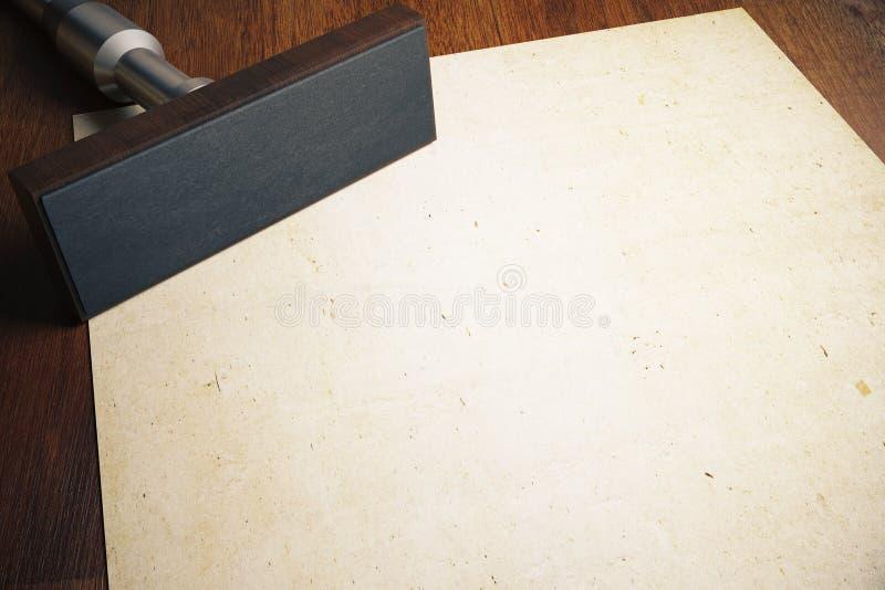 Stemplówki i papieru prześcieradło ilustracja wektor
