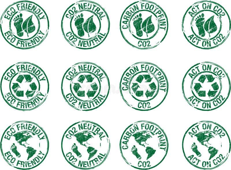 Stemplowy eco życzliwy ilustracja wektor