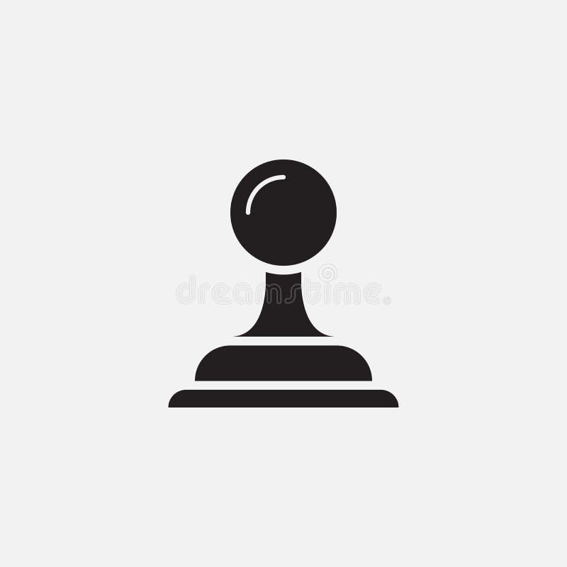 Stemplowy ikona wektor, stała logo ilustracja, piktogram odizolowywający na bielu royalty ilustracja