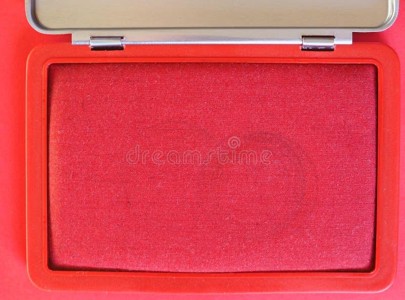 stemplowy ochraniacz z czerwonym atramentem obrazy stock