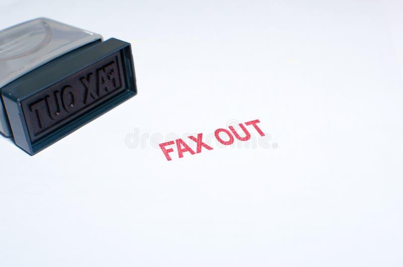 stemplujący faks out obraz stock