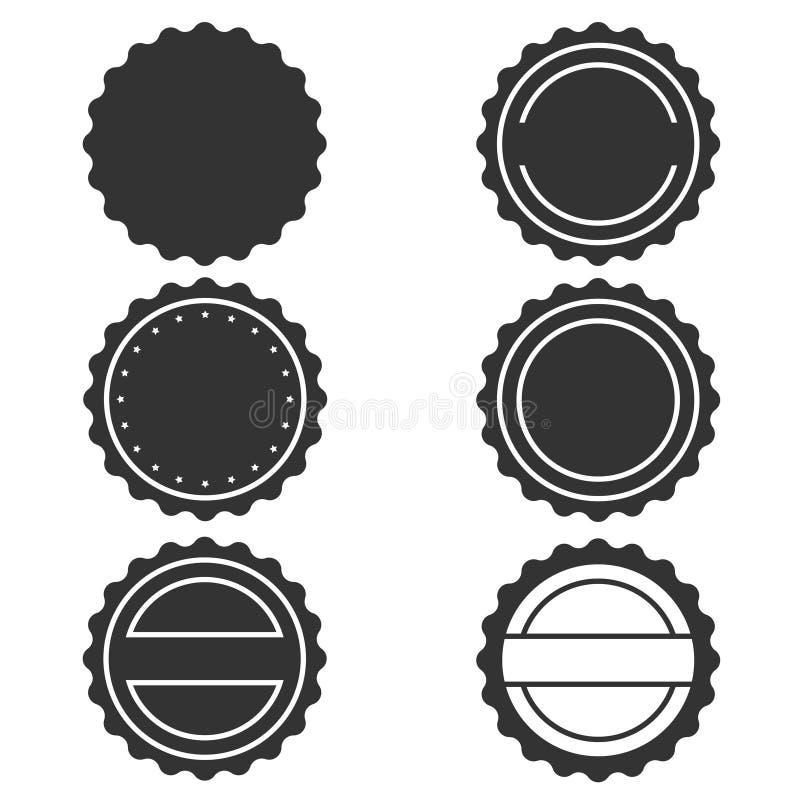 Stempluje graficzne ikony ustawia? ilustracja wektor