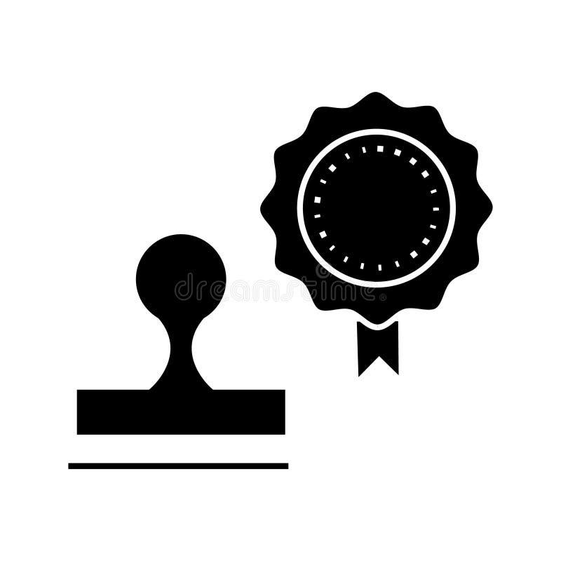 Stempluje ikonę, wektorowa ilustracja, znak na odosobnionym tle royalty ilustracja