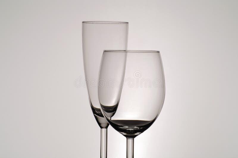 Stemware Gläser stockfotos