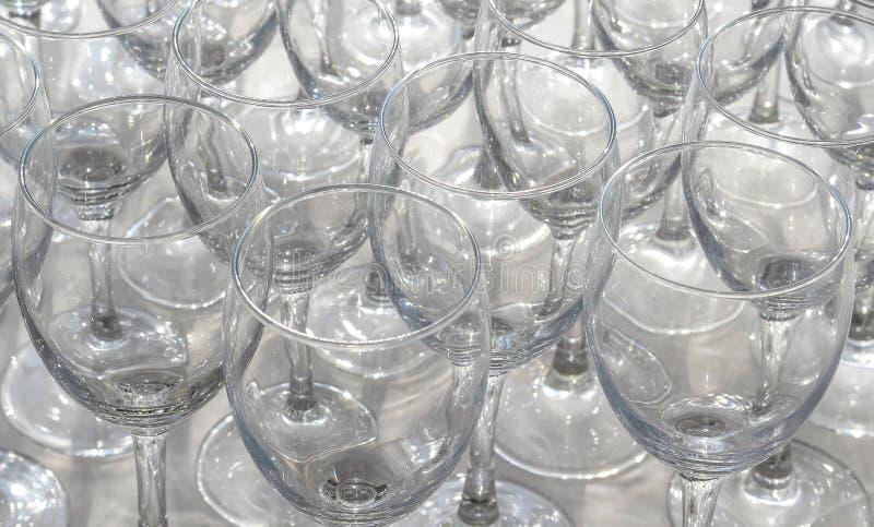 Stemwares cristalinos imagen de archivo