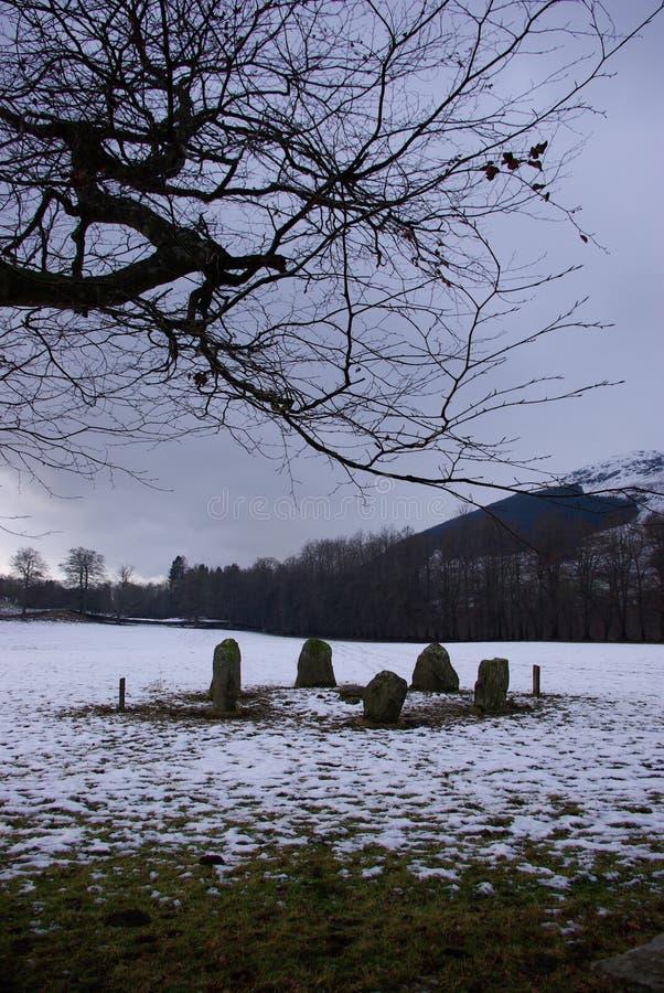 sten för 2 cirkel arkivbilder