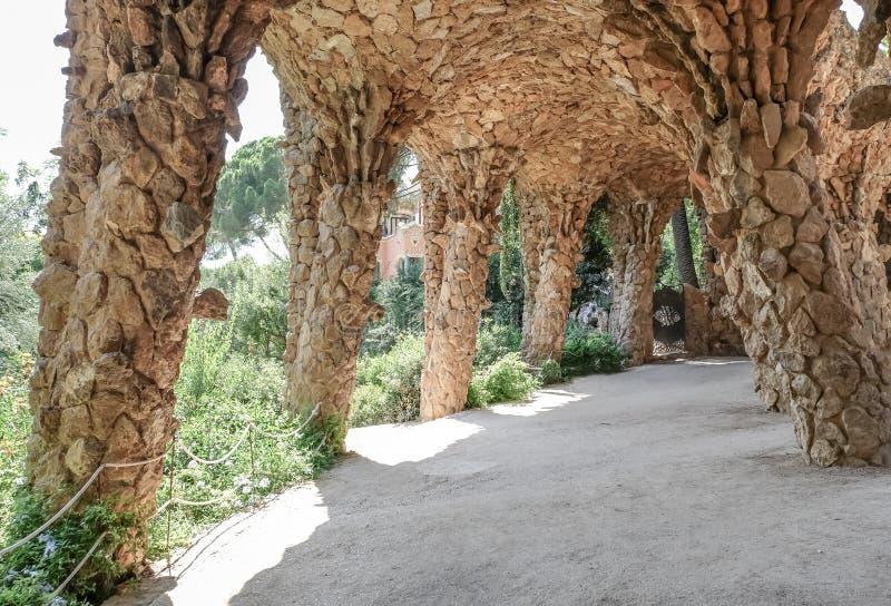 sten för kolonnguellpark arkivfoton