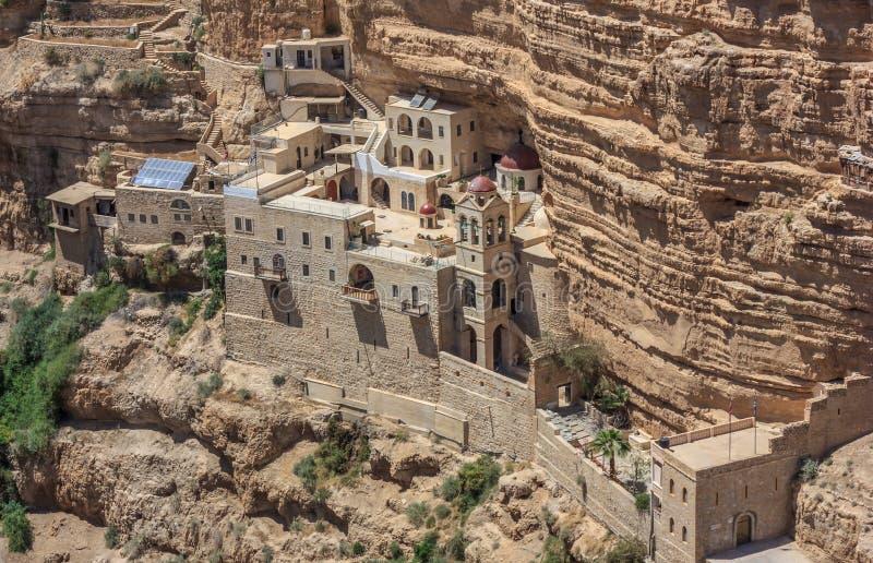 Sten George Orthodox Monastery, Israel royaltyfri bild