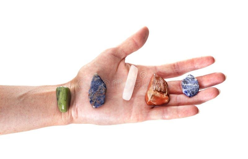 Sten i hand fotografering för bildbyråer