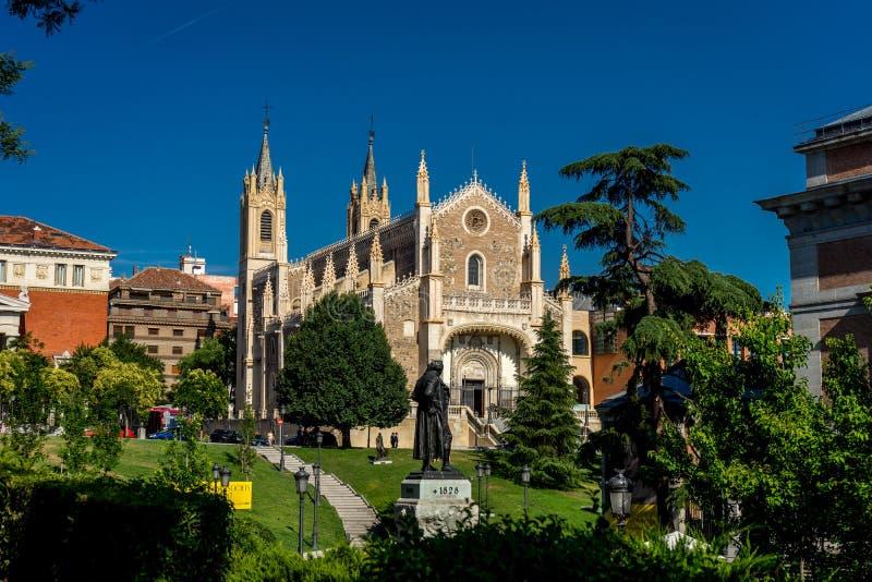 Sten Jerome Royal Church eller Hieronymus Monastery i Madrid, royaltyfri fotografi