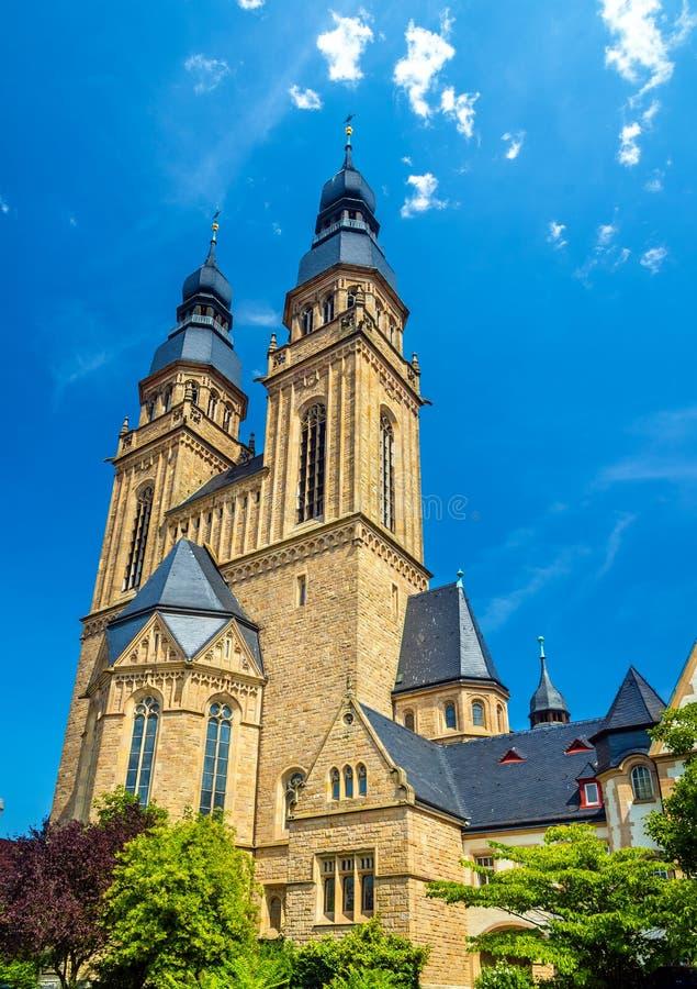 Sten Joseph Church i Speyer arkivbild