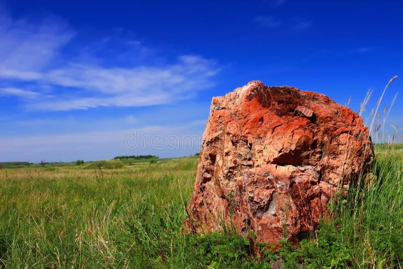 Sten och sky royaltyfri fotografi