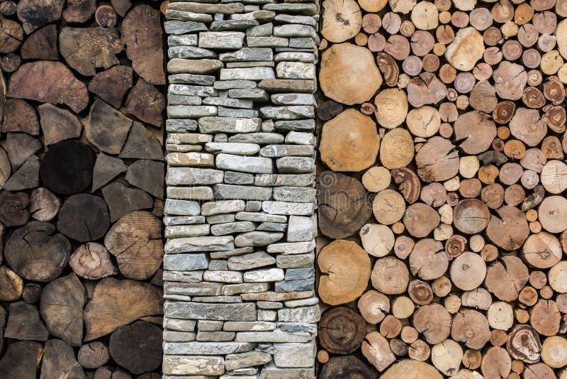 Sten- och träbakgrund royaltyfri fotografi