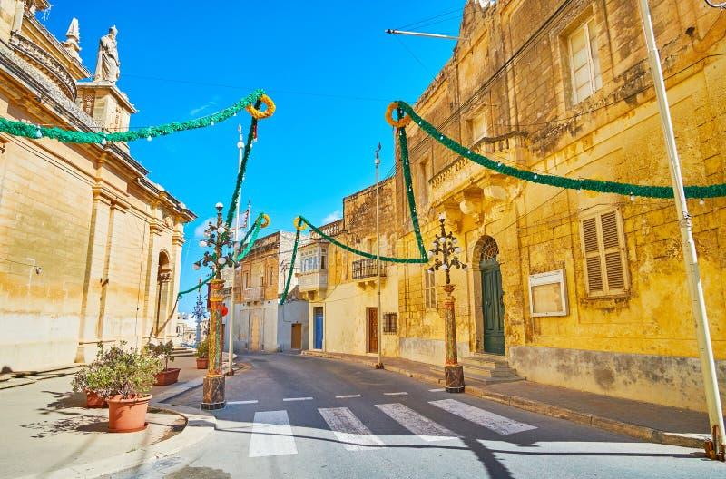 Stena gator av Siggiewi, Malta arkivfoton
