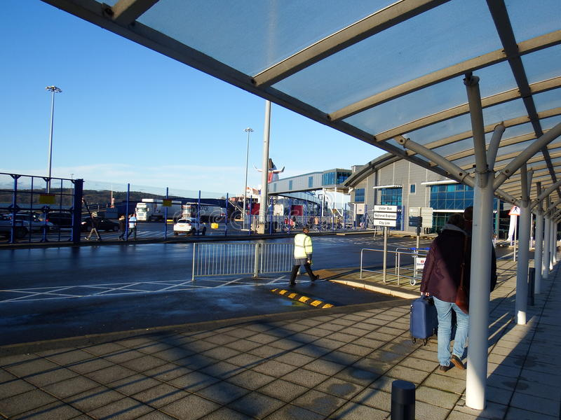 Stena linje terminal, Cairnryan royaltyfri foto