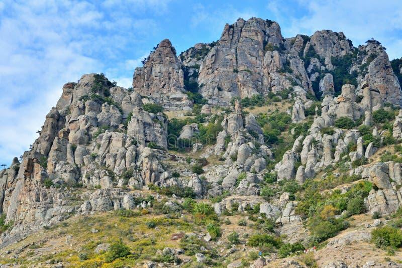 Stena pelare och vaggar i dalen av spökar royaltyfri fotografi