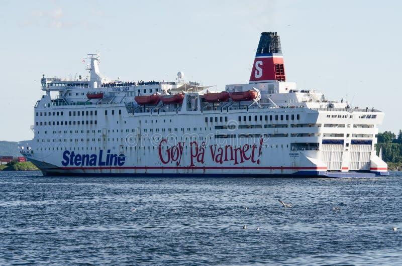 Stena Saga leaving Oslo