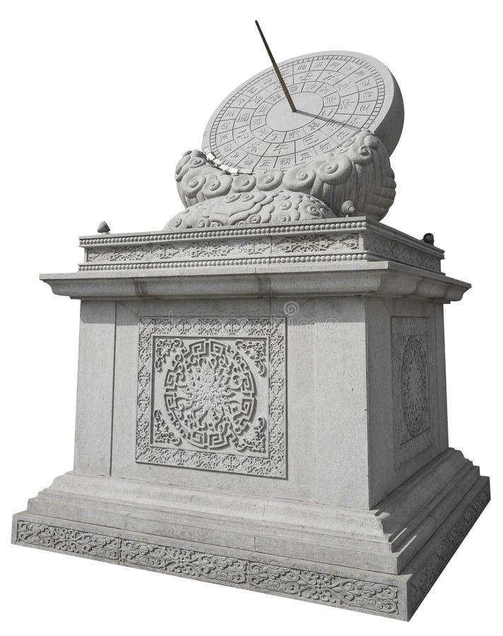 Stena sundialen royaltyfri fotografi