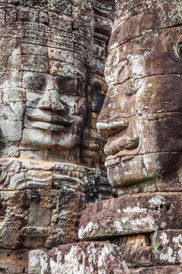 Stena väggmålningar och skulpturer i Angkor Wat, Cambodja fotografering för bildbyråer