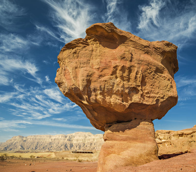 Stenar av Timna parkerar, Israel royaltyfri bild