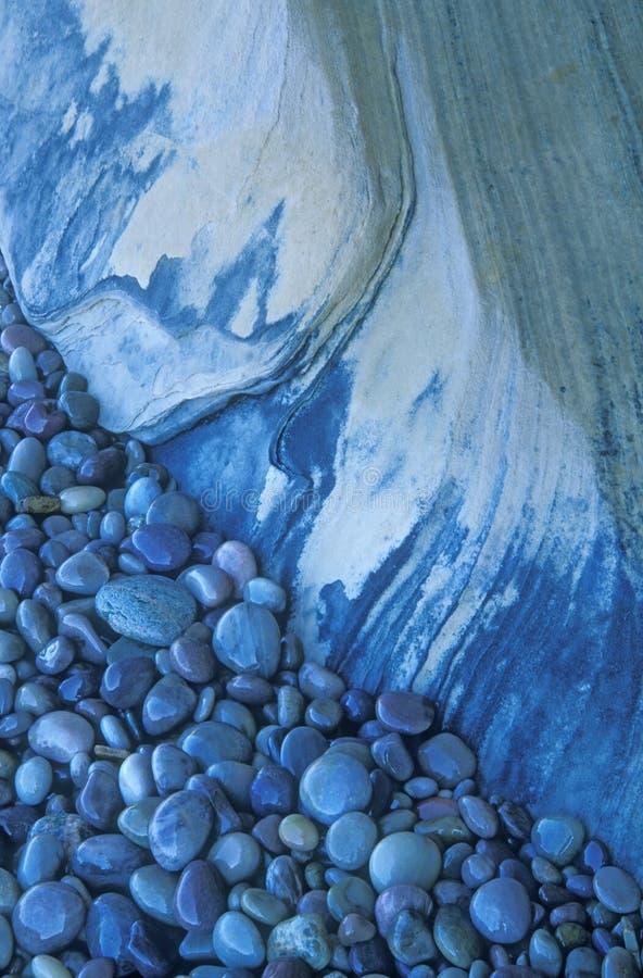 stenar för blå rock fotografering för bildbyråer