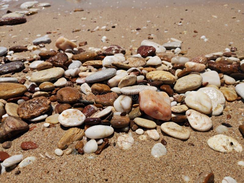 Stenar p? stranden royaltyfri bild