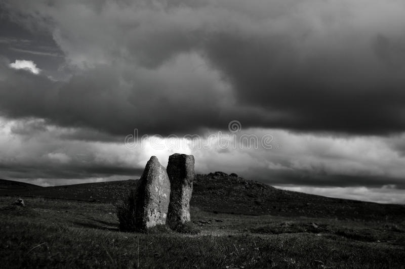 stenar två arkivfoton