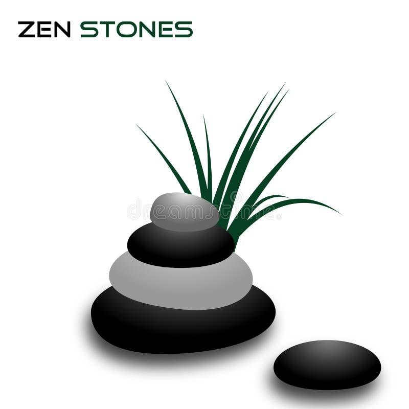 stenar zen royaltyfri illustrationer