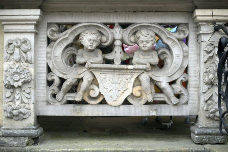 Stenbasreliefer av Gdansk royaltyfri foto