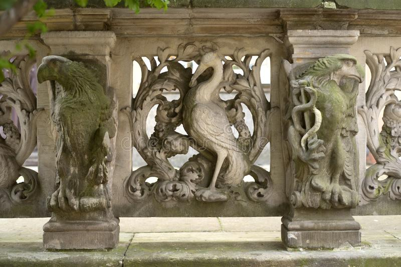 Stenbasreliefer av Gdansk arkivfoton