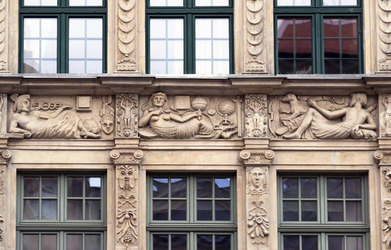Stenbasreliefer av Gdansk arkivbild