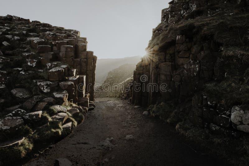 Stenbildande på den jätte- vägbanken för ` s royaltyfri fotografi