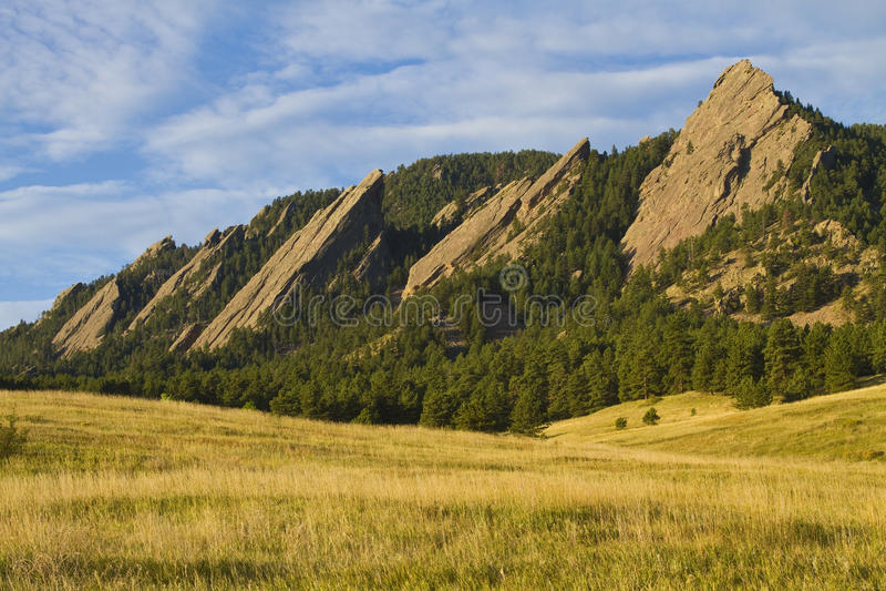 Stenblock Colorado för Flatiron morgonlampa royaltyfri fotografi