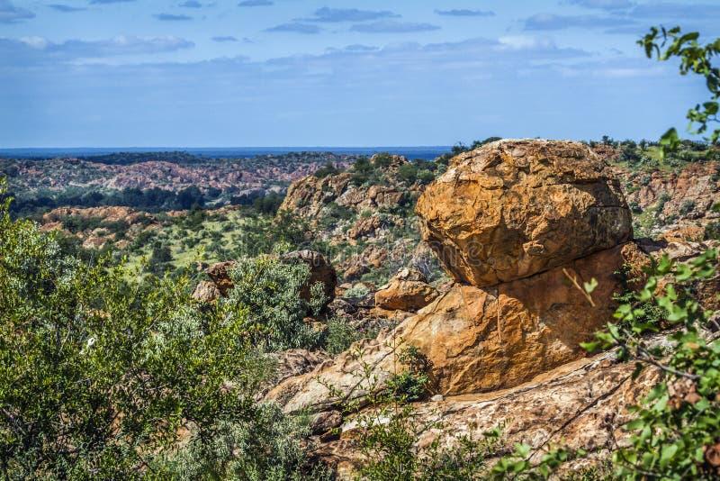 Stenblocklandskap i den Mapungubwe nationalparken, Sydafrika royaltyfri bild