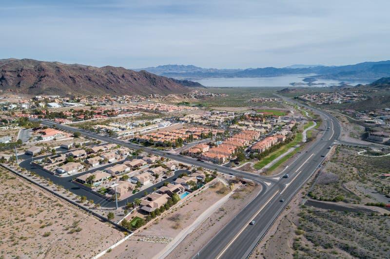 Stenblockstad i Nevada, F?renta staterna arkivfoto