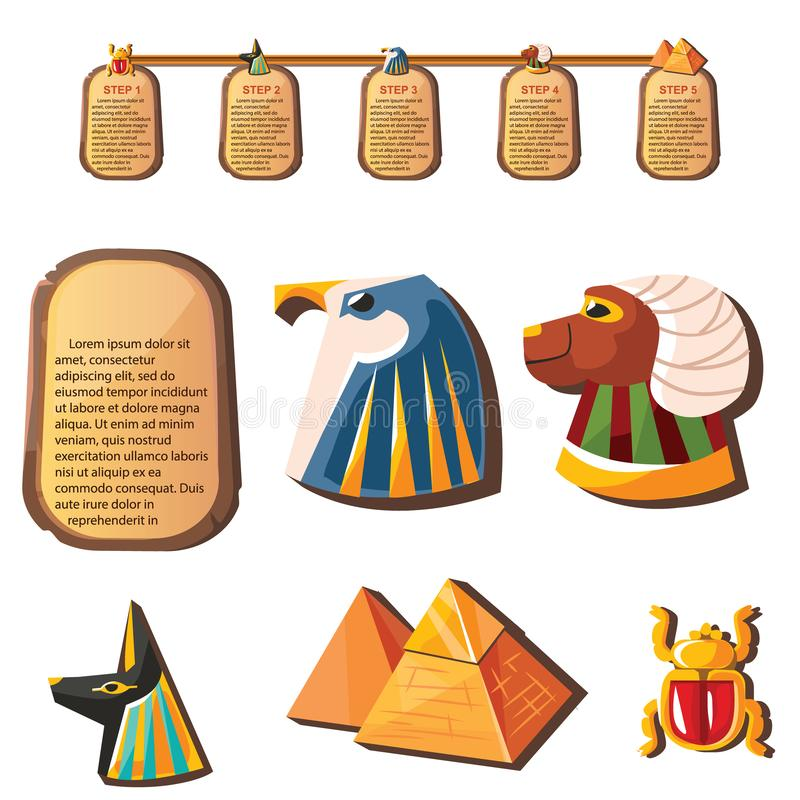 Stenbräde eller leraminnestavla med det djura huvudet stock illustrationer