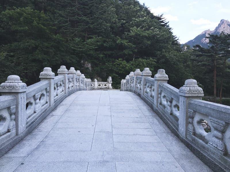Stenbron i den Seoraksan nationalparken 30 ändrande för korea för guardsjuli konung söder pal s seoul royaltyfria bilder