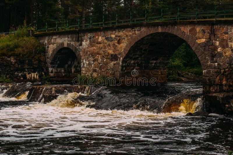 Stenbron old bridge, Sweden. Stenbron old bridge over the river, Sweden royalty free stock photo