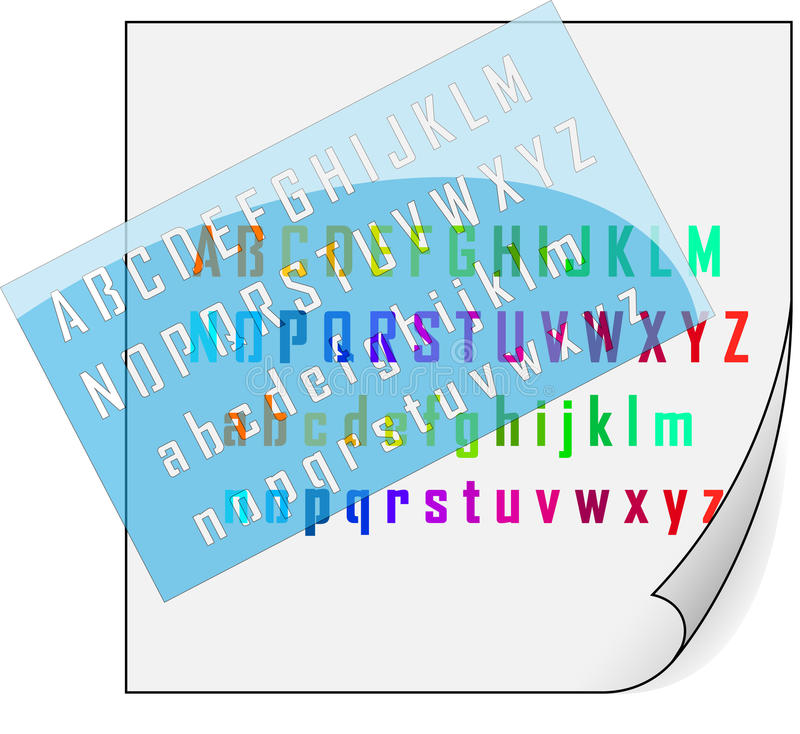 Download Stencil and alphabet stock vector. Illustration of desk - 38444910