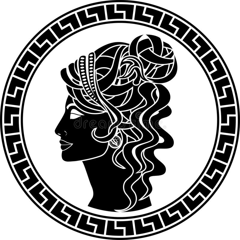 Download Stencil Of Aristocrat Woman Stock Vector - Image: 26535372