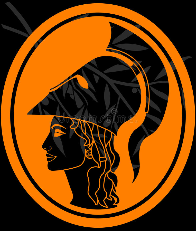 Download Stencil of athena profil stock vector. Illustration of ancient - 18525494