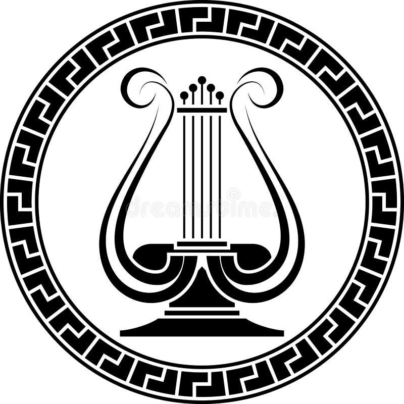 Stencil av lyran royaltyfri illustrationer