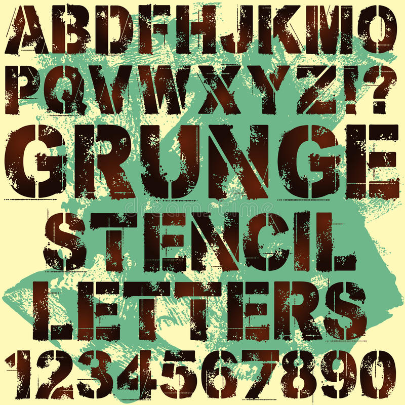 Download Stencil Letters stock vector. Image of graffiti, grungy - 24128122