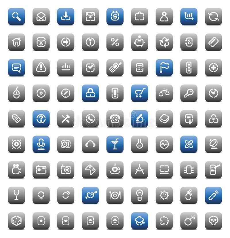 Stencil matt buttons vector illustration
