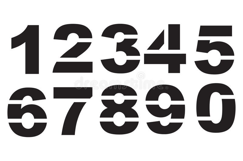 Download Stencil numbers stock vector. Image of stencil, number - 38383306