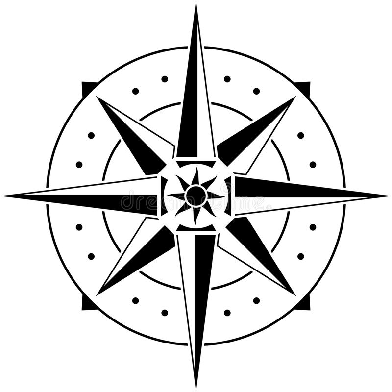 Free Stencil Of Compass Stock Images - 46684854