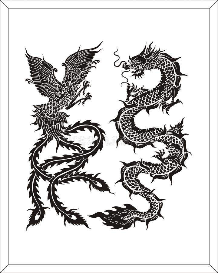 Dragon swan stock photos image 30103403 for Glass etching templates for free