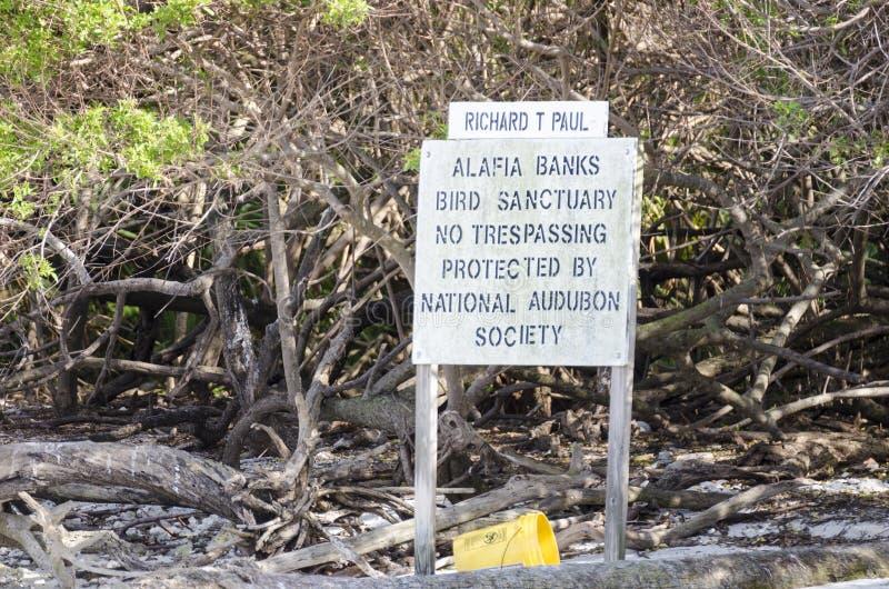 Stenciled No Trespassing sign stock photos